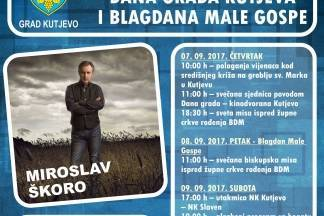 Koncert Škore i bogat program povodom proslave Dana Grada Kutjeva i blagdana Male Gospe
