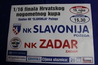 NK ¨Slavonija - NK ¨Zadar¨ sutra igraju u Požegi od 15:30 sati