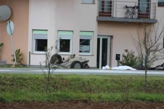 Za slijetanje automobila u Požeškoj Korpivnici kriva je brzina