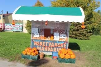 Prodaja neretvanskih mandarina na križanju Frankopanske i Kvaternikove ulice u Požegi