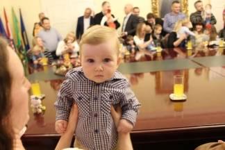 Prijem beba i roditelja kod gradonačelnika 26.10.2017.