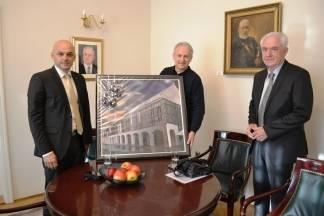 Gradonačelnik i predsjednik Gradskog vijeća primili prof. Veljka Valentina Škorvagu