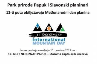 PP Papuk i Slavonski planinari obilježavaju Međunarodni dan planina