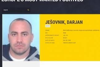 MUP daje 5 tisuća eura za informacije koje dovedu do uhićenja Darjana Ješovnika