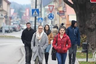 Šetnja Požegom uz prve pahulje snijega 02.12.2017.