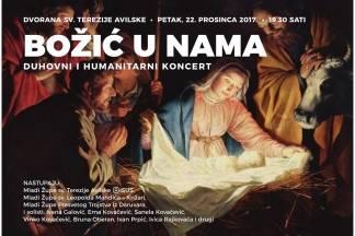 ¨Božić u nama¨- duhovni humanitarni koncert u Dvorani sv. Terezije Avilske