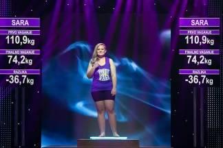 Sara je s izgubljenih 36,7 kg u finalu zauzela treće mjesto