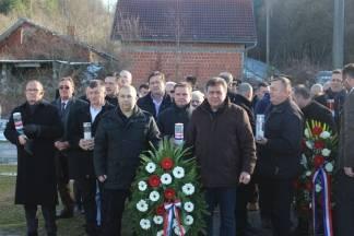 Polaganje vijenaca povodom 26. godišnjice oslobađanja zloglasnog uporišta u Bučju 26.12.2017.