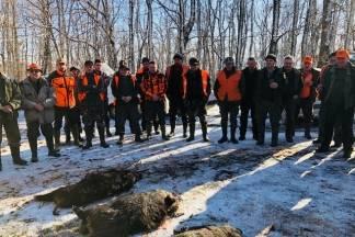 Kutjevo i Vetovo u zajedničkom lovu 30.12.2017.