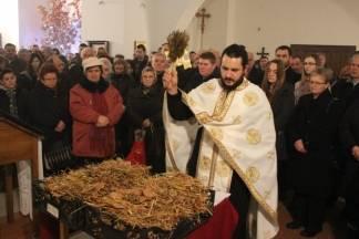 Liturgija i paljenje Badnjaka povodom pravoslavnog Božića 6.1.2018.
