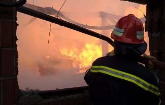 Izgorjelo skladište na željezničkoj postaji u Poljani