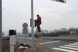 Postavljanje semafora u Vidovcima