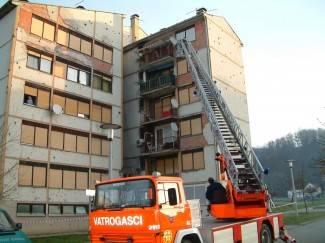 Sa zgrade uklonjeni ostatci fasade koji su prijetili prolaznicima
