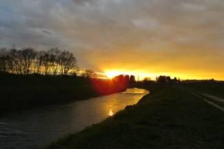 Predivno: Nedjeljni zalazak sunca iznad Orljave