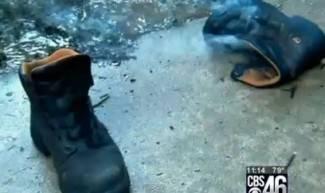 Koji sretnik: Pogodio ga grom, stradala mu samo čizma (video)