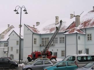Krov Gradske kuće bez snijega