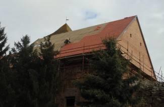 Pokriven krov na kaptolačkoj tvrđavi, uređivanje se nastavlja