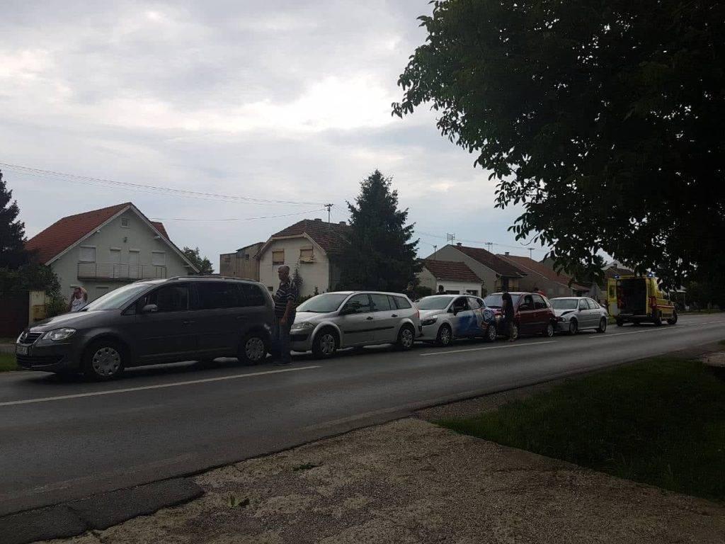 Lančani sudar u Slavonskom Brodu