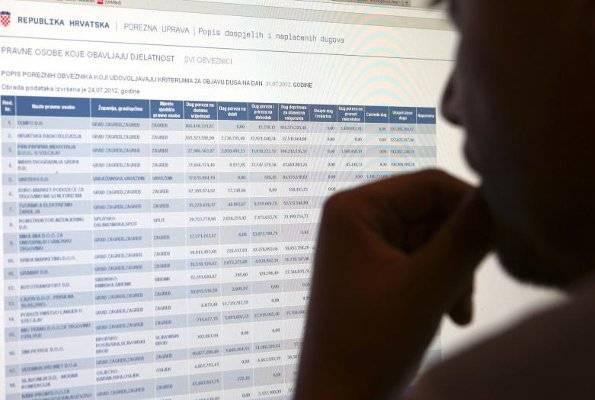 Ažurirana lista poreznih dužnika: U PSŽ među tvrtkama najveći dužnik s 7,2 milijuna, te kod građana s 3,3 milijuna kuna