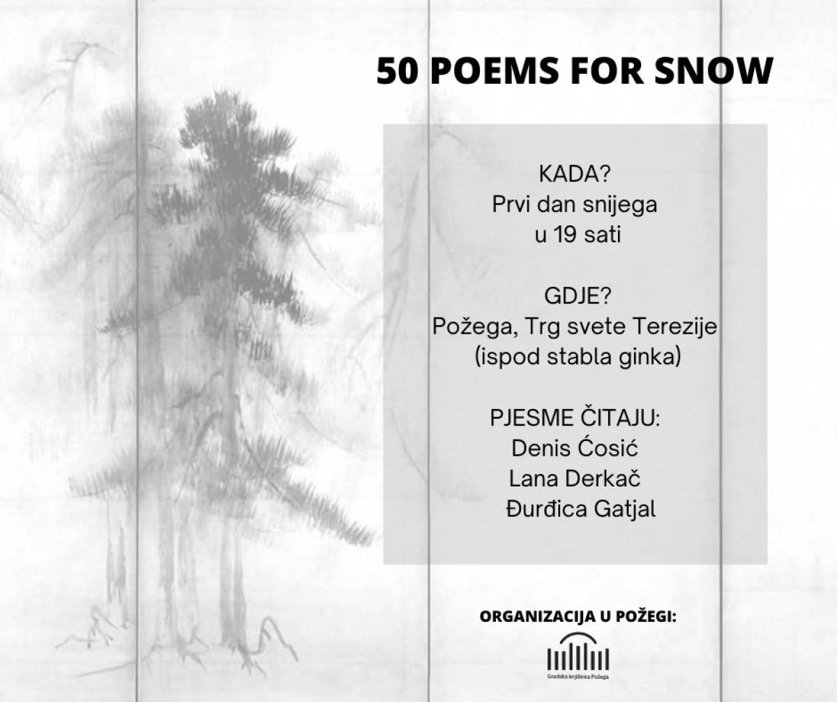 Gradska knjižnica Požega: Pjesnički festival na snijegu