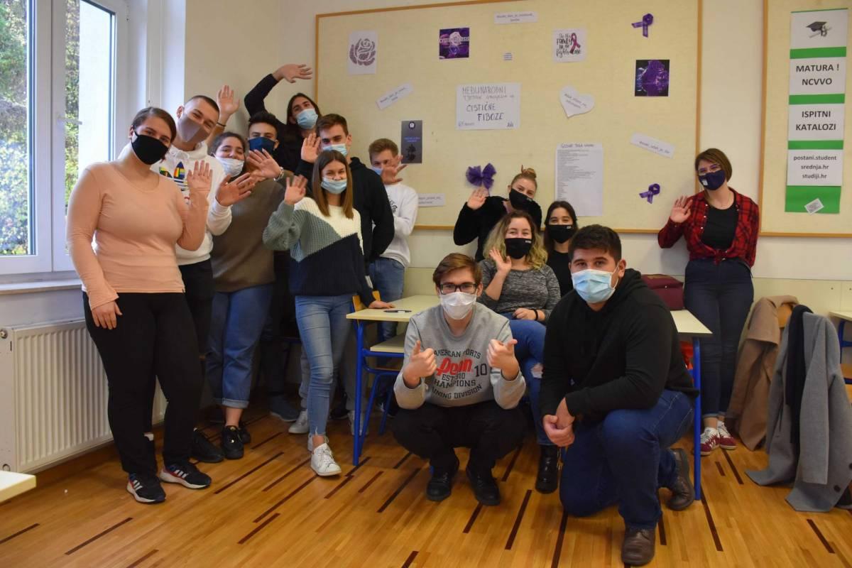 Učenici Katoličke gimnazije u Požegi obilježili Europski tjedan cistične fibroze