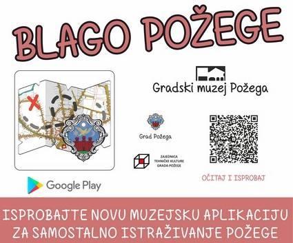 """Gradski muzej Požega danas predstavlja mobilnu aplikaciju """"Blago Požege"""""""