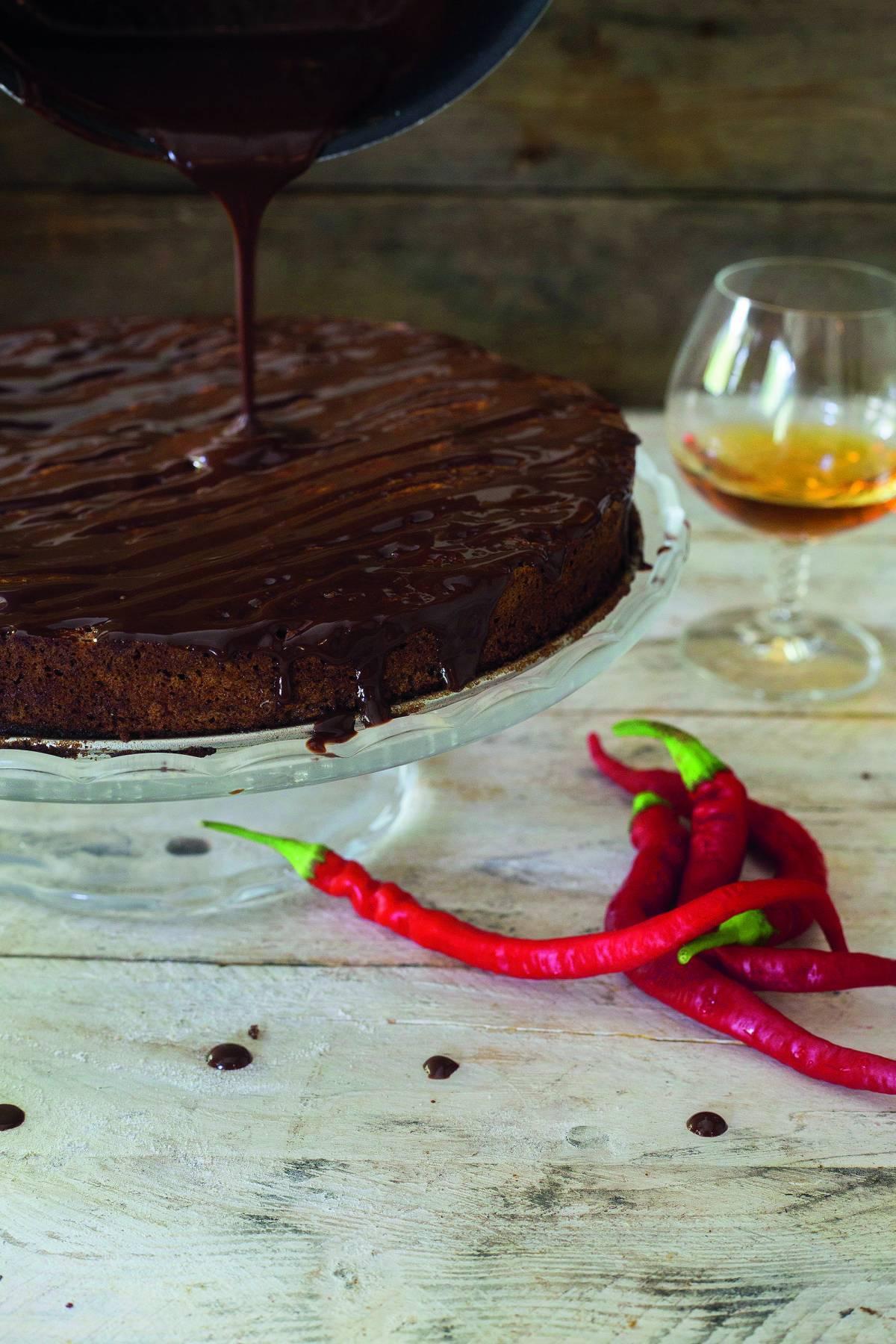 Sočni čokoladni kolač s konjakom