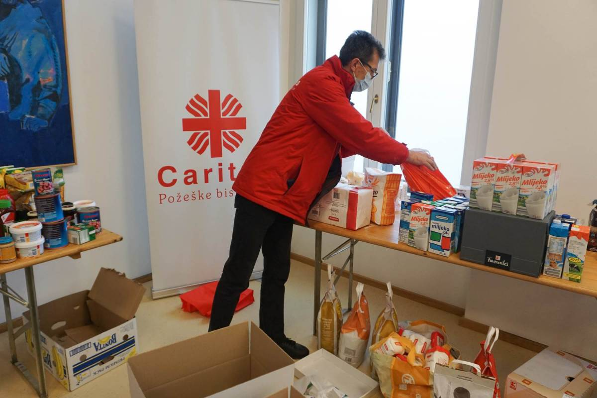 Caritas Požeške biskupije prikuplja pomoć za stradale u potresu