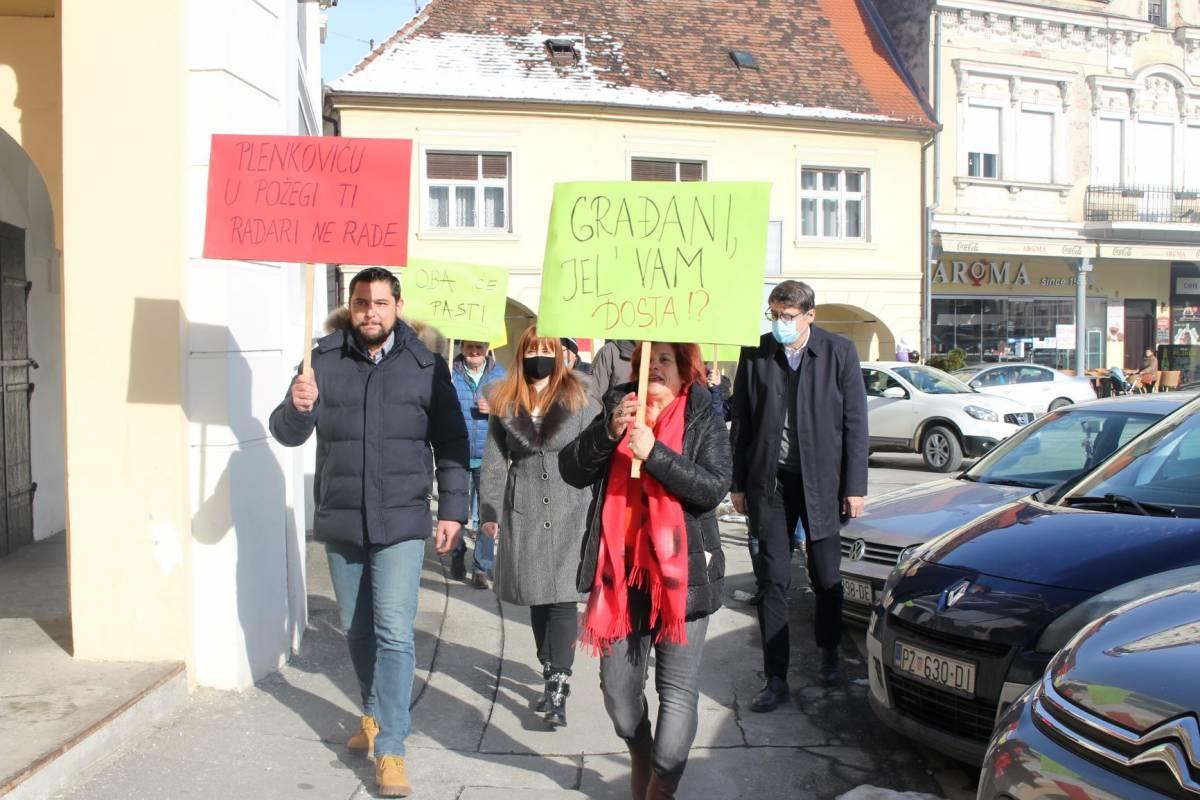 SDP Požega održao prosvjed: POVIK-21 ZA OSTAVKE!