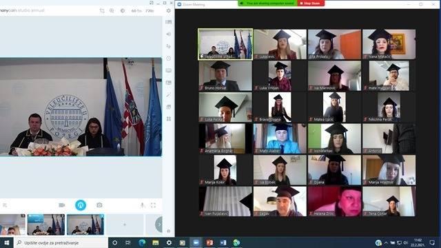 Veleučilište u Požegi održalo prvu online promociju 159 studenata