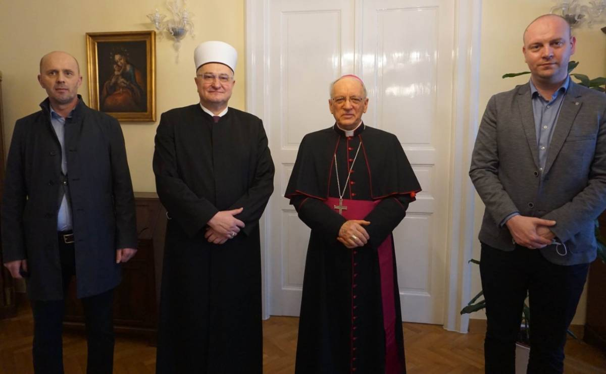 Muftija Hasanović posjetio biskupa Škvorčevića