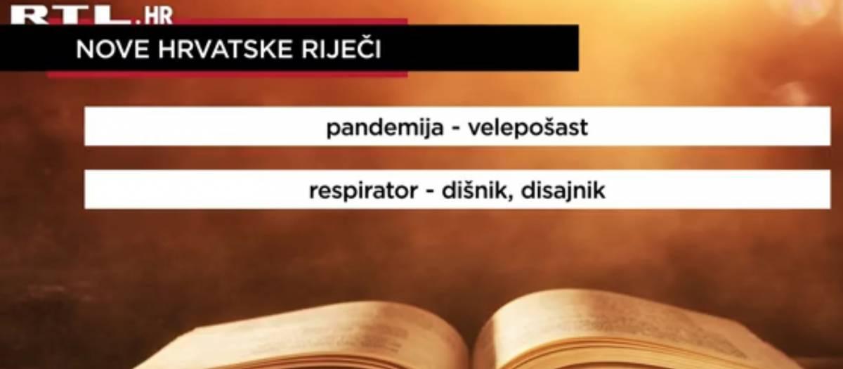 19 novih hrvatskih riječi: Pandemija- velepošast, respirator-dišnik...
