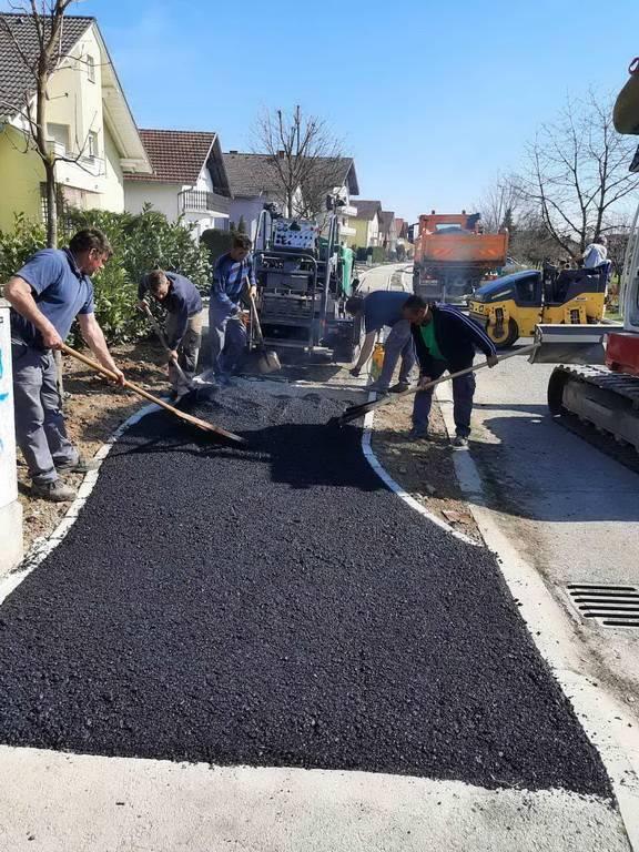 Radovi asfaltiranja u Ulici Franje Maričevića