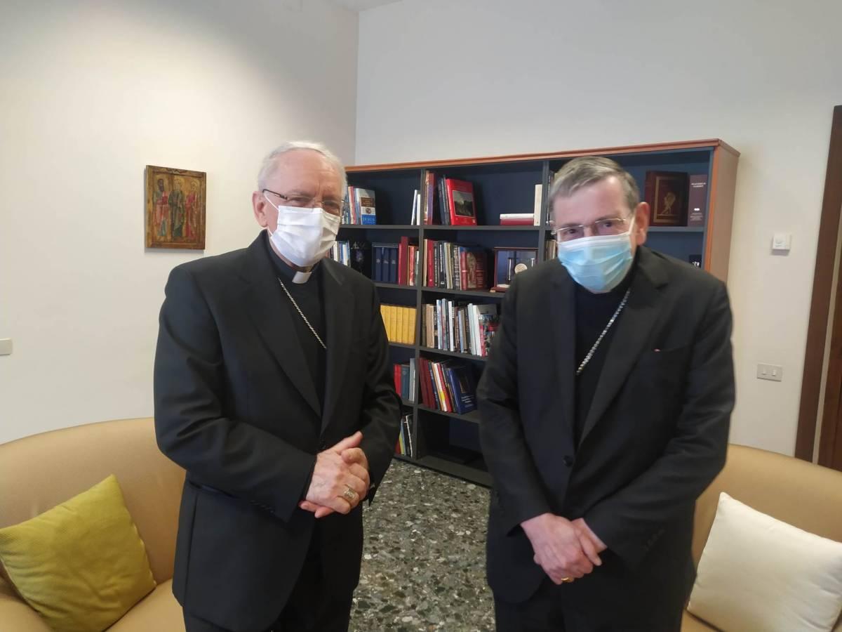 Susret biskupa Škvorčevića i predsjednika Papinskog vijeća za promicanje jedinstva kršćana u Rimu
