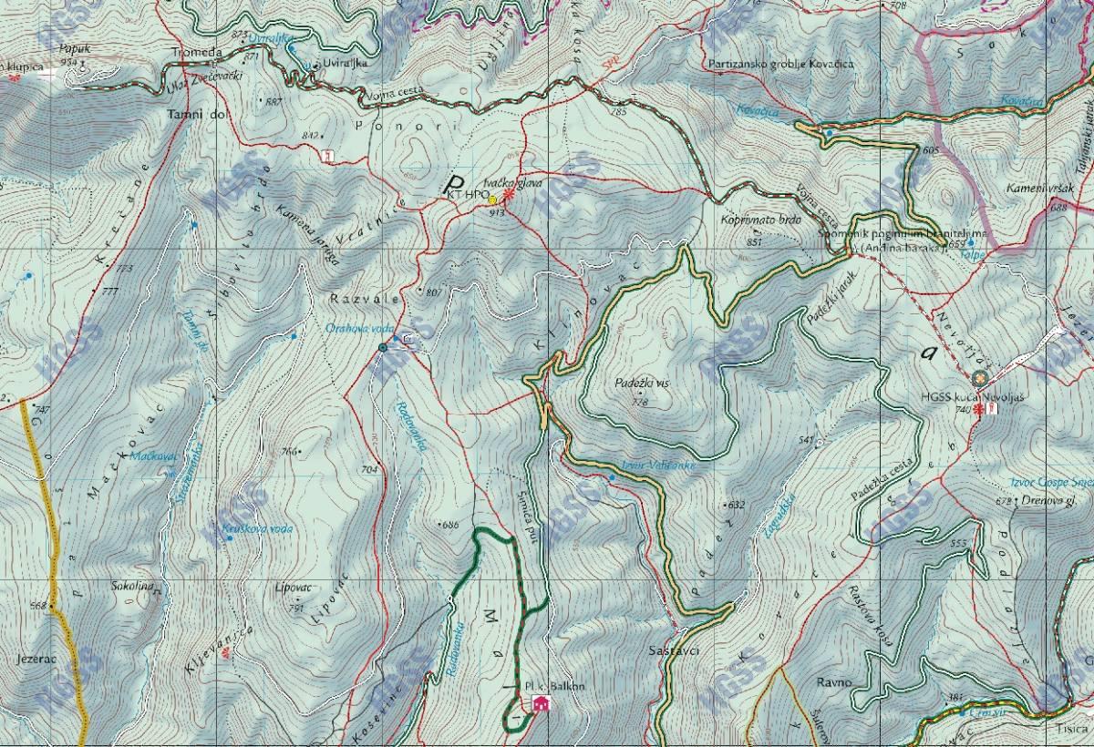 HGSS Požega: u sinoćnjoj akciji spašavanja na Papuku spašena dva planinara koja su se izgubila