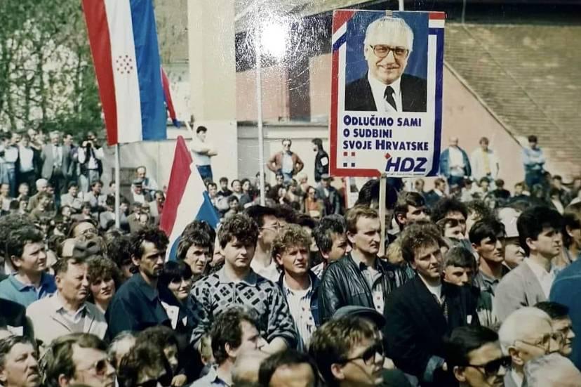 Prije 31 godinu održan velebni skup Hrvatske demokratske zajednice na tadašnjem požeškom Atletskom stadionu