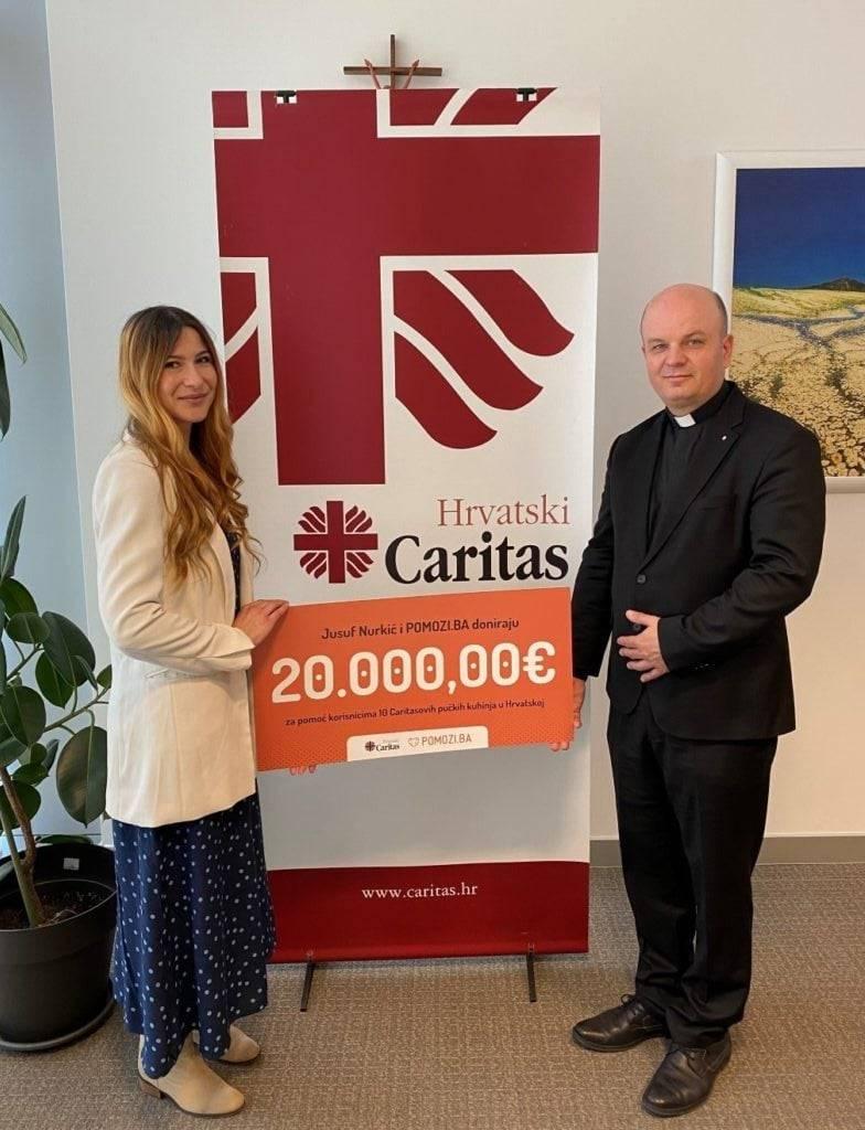 Caritas Požeške biskupije: Donacija Fondacije Jusuf Nurkić i udruge Pomozi.ba iz Sarajeva