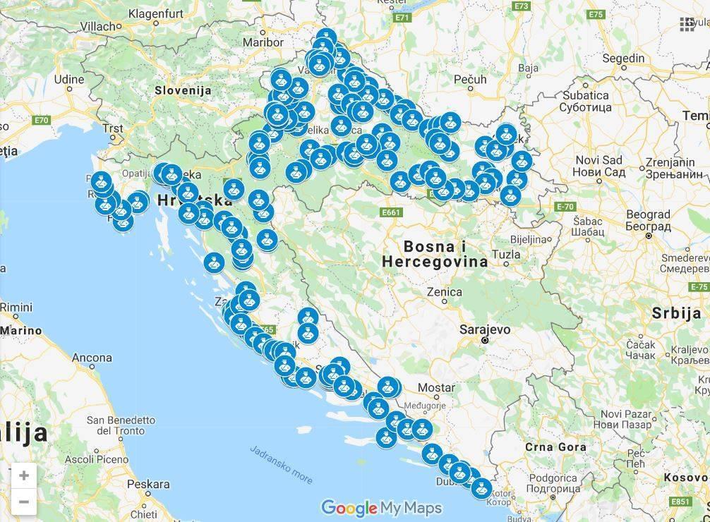 Pogledajte kartu na kojim vas sve mjestima u Hrvatskoj vrebaju kamere radara!