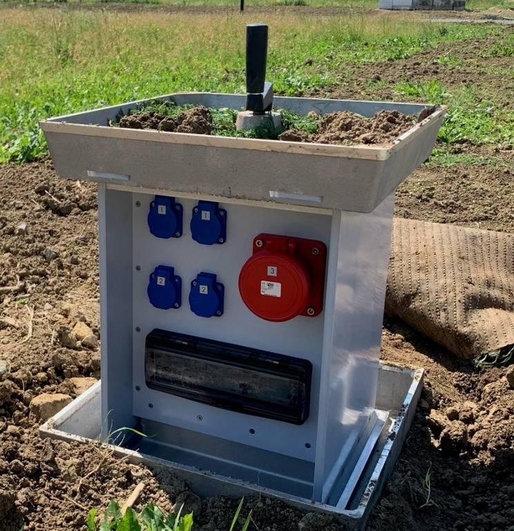 Ugrađeni podni razvodni ormari za privremene priključke na električnu energiju