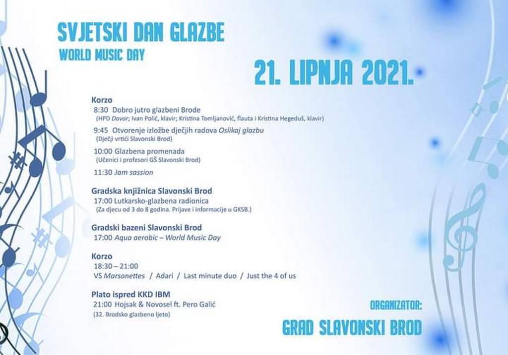 Obilježavanje Svjetskog dana glazbe u Slavonskom Brodu