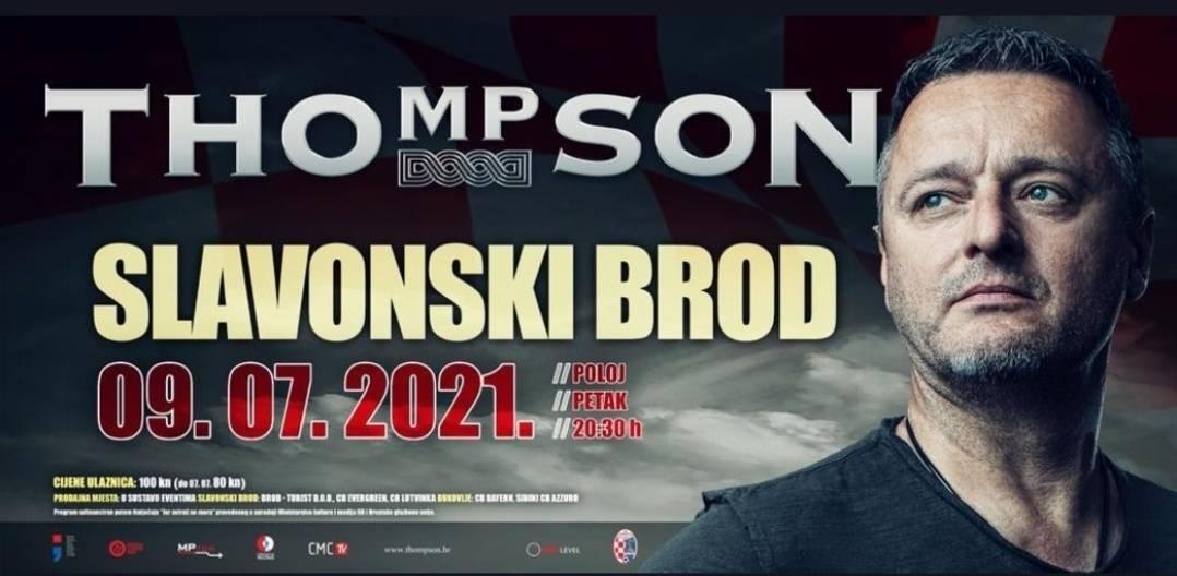 Koncert Thompsona u Sl. Brodu za pomoć NK Marsoniji