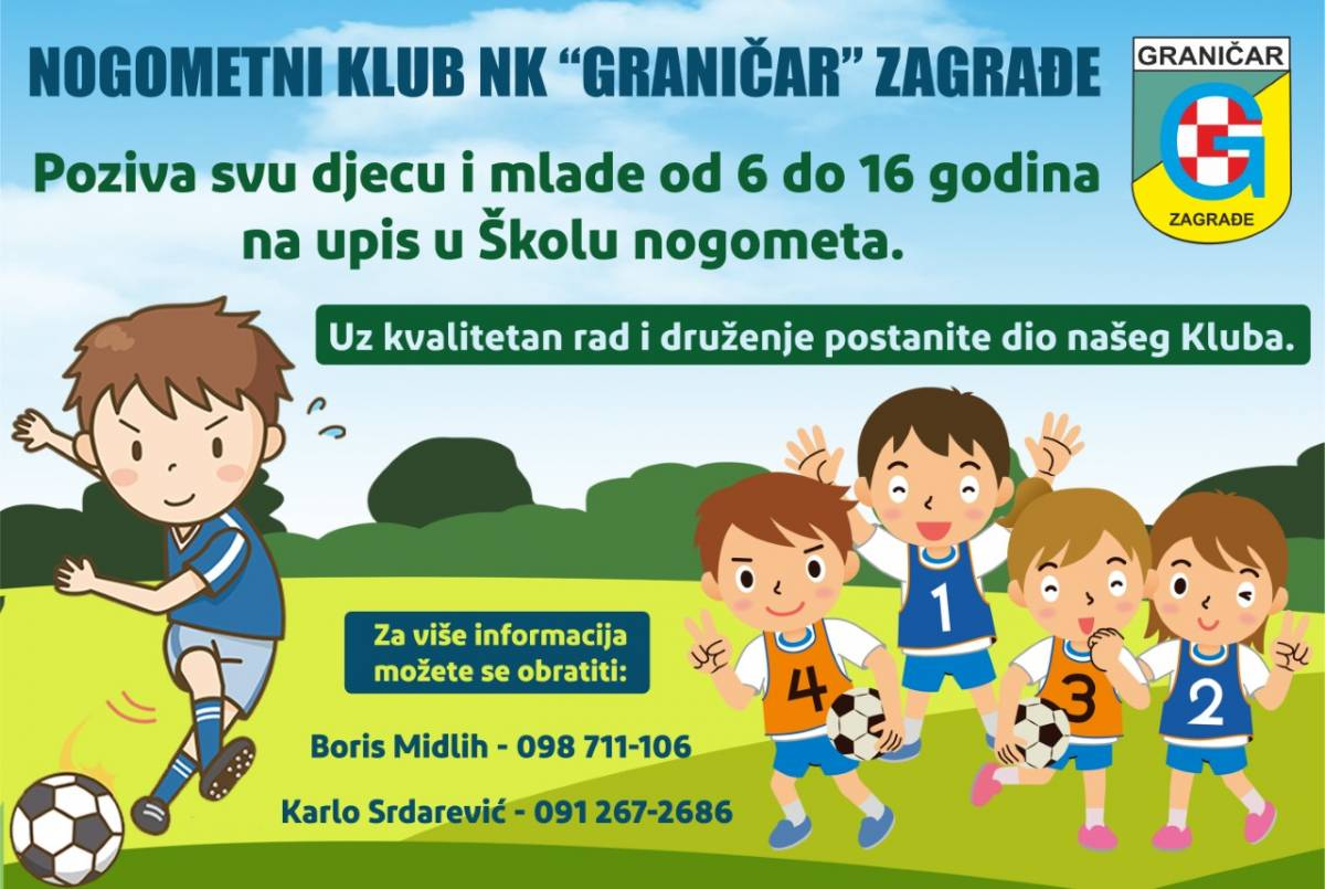 Škola nogometa u organizaciji Nk ʺGraničarʺ Zagrađe