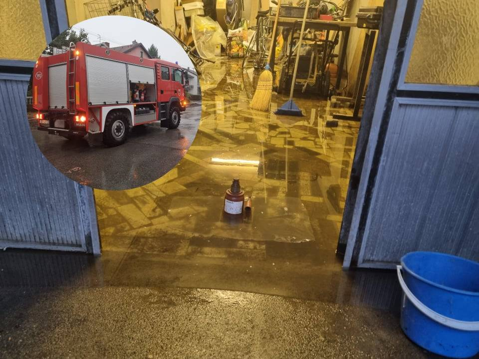 Vatrogasci na terenu i u Sl. Brodu. U susjednom gradu više od 60 poziva hitnim službama