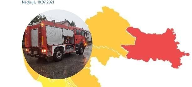 Izdano crveno upozorenje cijelu Slavoniju