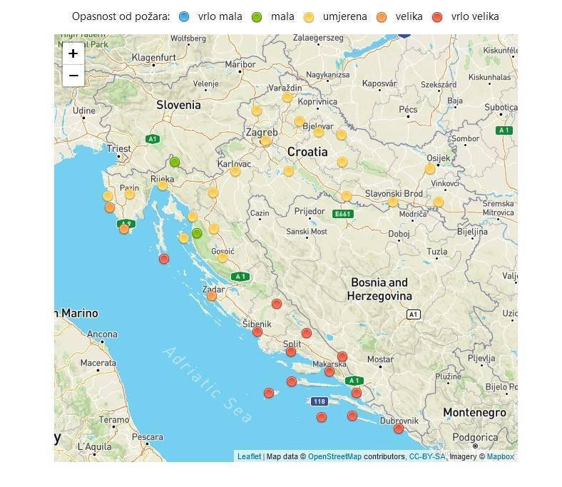 HRVATSKA VATROGASNA ZAJEDNICA: Velika opasnost od šumskih požara!