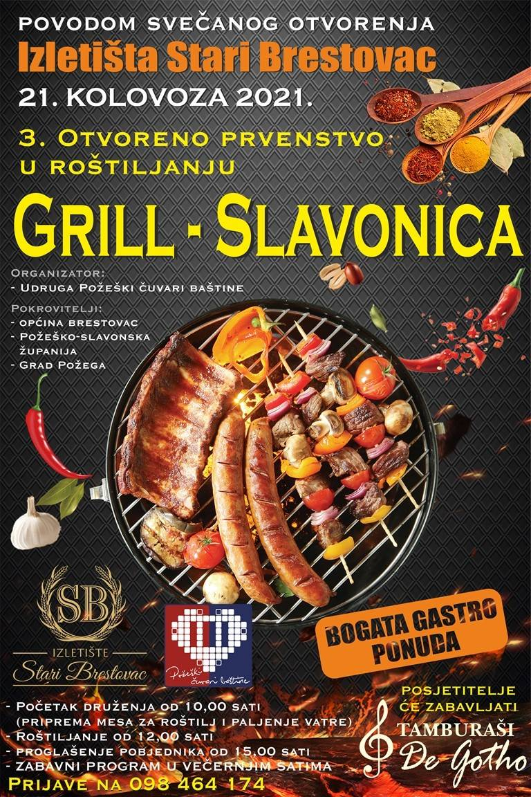 """3. Otvoreno  prvenstva u roštiljanju """"Grill Slavonica"""" 2021., održat će se 21.kolovoza"""