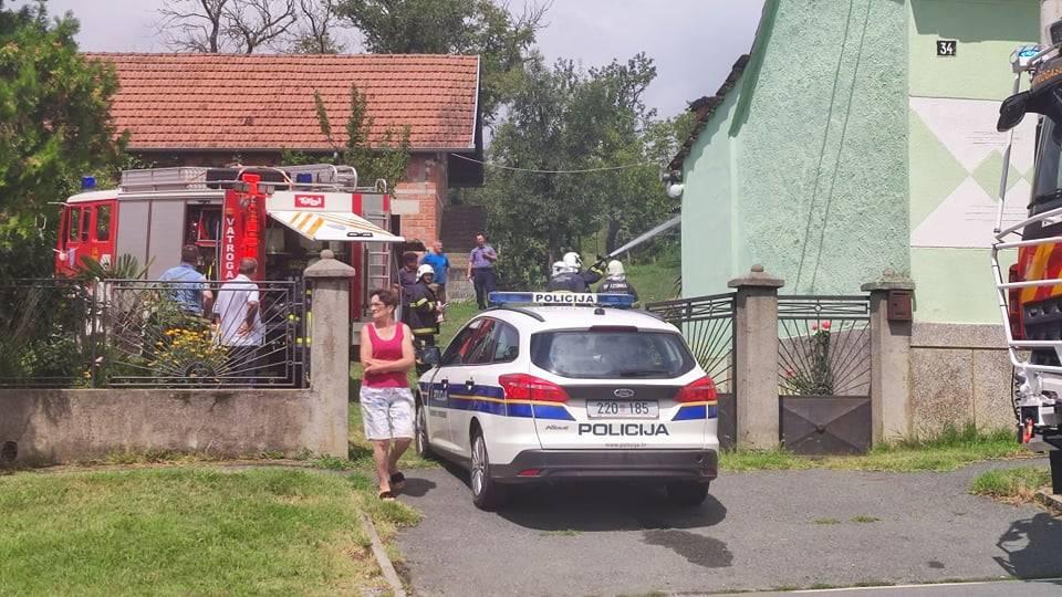 Požar na obiteljskoj kući u Bresnici