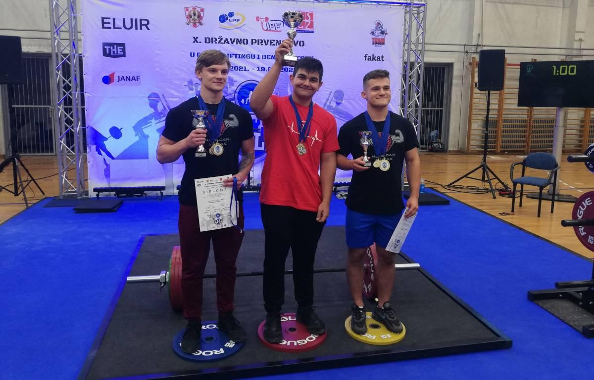 ODRŽANO DRŽAVNO PRVENSTVO U POWERLIFTINGU: Leon Dokša je apsolutni kadetski prvak Hrvatske
