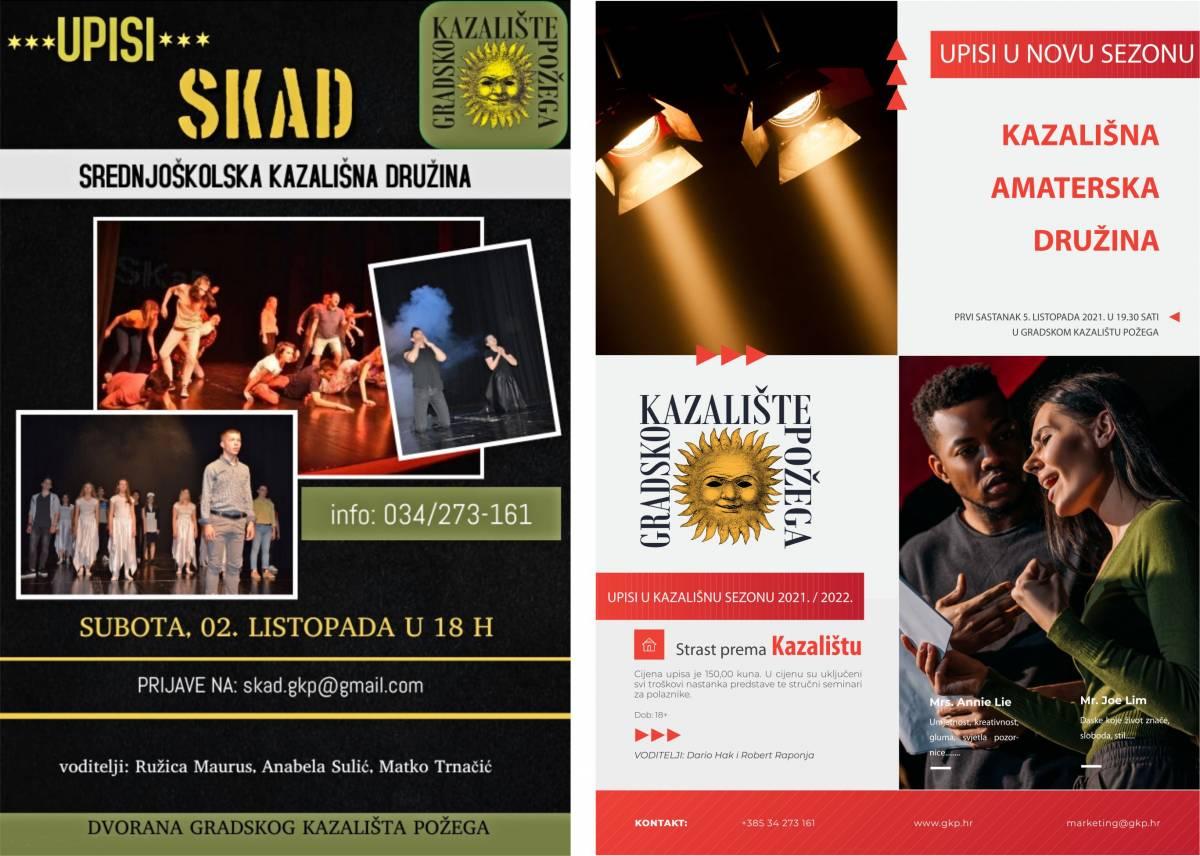 Dramski studio Gradskog kazališta Požega kreće s radom