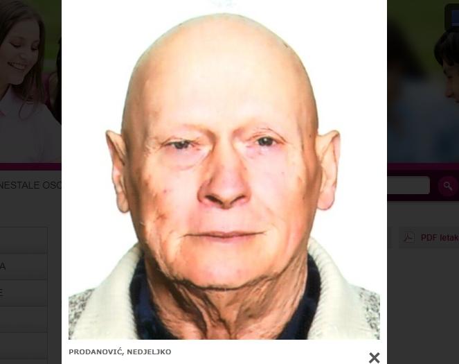 Jučer nestali Nedjeljko Prodanović pronađen danas na području Sirača